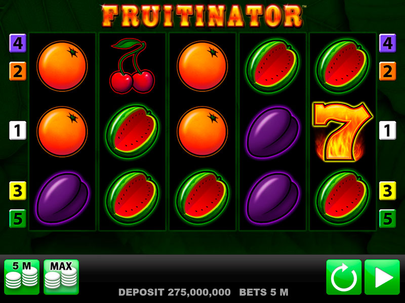 Fruitinator Spielautomat Übersicht auf Sizzling-hot-deluxe-777