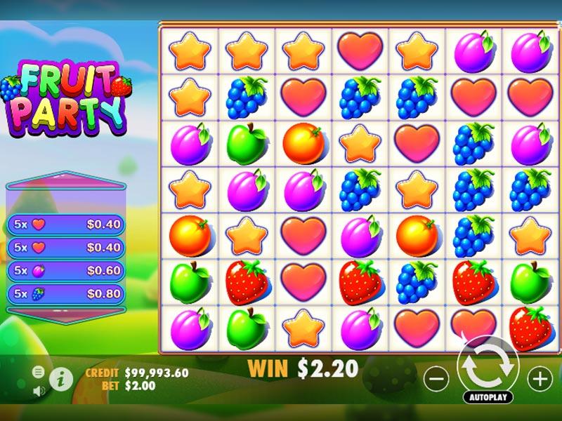 Fruit Party Spielautomat Übersicht auf Sizzling-hot-deluxe-777